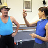 Randy Ahrens gets some pointers from Danse Etoile Ballet's Marie Jose Payannet  who choreographed the dance mixing country and ballet during rehearsal for Dancing with the Broomfield Stars at Dance Arts Studio.<br /> <br /> August 15, 2011<br /> staff photo/ David R. Jennings