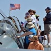 People look at the TBM Grumman Avenger during Saturday's Rocky Mountain Airshow 2012 at Rocky Mountain Metropolitan Airport. <br /> <br /> August 26, 2012<br /> staff photo/ David R. Jennings