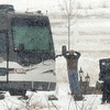 Broomfield Police SWAT team members arrest a man barricaded in a motor home on Mountain View St. on Thursday.<br /> February 3, 2011<br /> staff photo/David R. Jennings