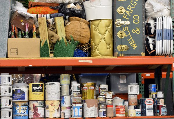 Items from previous Just After Midnight events and paints are stored in the JAM Shed at Broomfield High on Saturday.<br /> January 26, 2013<br /> staff photo/ David R. Jennings
