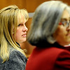Prosecutors Katherina Booth (left) and Amy Okbuko (right) give and opening statement starting Scott Kimball's hearing at the Boulder County Justice Center in Boulder Colorado October 8, 2009.  Kimball has been linked to four suspected murders, including that of his uncle and his ex-wife's daughter, was charged Tuesday with two counts of second-degree murder. CAMERA/Mark Leffingwell