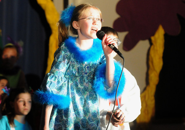 Megan Brozovich sings as Gertrude McFuzz during the Thursday performance of Seussical by the Coyote Ridge Elementary School drama club.<br /> <br /> April 15, 2010<br /> Staff photo/David R. Jennings