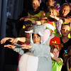 The cast of 4th and 5th graders performs a song during the Thursday performance of Seussical by the Coyote Ridge Elementary School drama club.<br /> April 15, 2010<br /> Staff photo/David R. Jennings