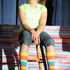 Jojo played by Emma Wacasey sits on a stool after getting in trouble for being different in Whoville during Thursday's performance of Seussical by the Coyote Ridge Elementary School drama club.<br /> <br /> April 15, 2010<br /> Staff photo/David R. Jennings