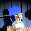 Megan Beisterfield as Horton the Who, sits on a bird's nest surrounded by storm clouds during the Thursday performance of Seussical by the Coyote Ridge Elementary School drama club.<br /> April 15, 2010<br /> Staff photo/David R. Jennings