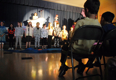 The audience watches the Thursday performance of Seussical by the Coyote Ridge Elementary School drama club.  April 15, 2010 Staff photo/David R. Jennings