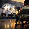 The audience watches the Thursday performance of Seussical by the Coyote Ridge Elementary School drama club.<br /> <br /> April 15, 2010<br /> Staff photo/David R. Jennings