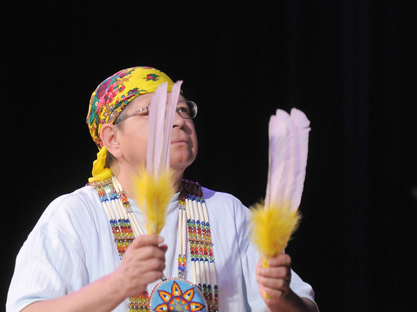 Vera Howell, Seven Falls Indian Dancers, performs a Women's  traditional dance during  the Children's Library's Wonderful Wednesdays at the Audi the Mamie Doud Eisenhower Public Library.<br /> June 8, 2011<br /> staff photo/David R. Jennings