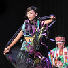 Maddie Fernandez, Seven Falls Indian Dancers, performs a woman's fancy shawl dance while Derek Howell drums during  the Children's Library's Wonderful Wednesdays at the Audi the Mamie Doud Eisenhower Public Library.<br /> June 8, 2011<br /> staff photo/David R. Jennings