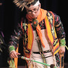 Robert Howell, with the Seven Falls Indian Dancers, performs a hunter's dance during  the Children's Library's Wonderful Wednesdays at the Audi the Mamie Doud Eisenhower Public Library.<br /> June 8, 2011<br /> staff photo/David R. Jennings