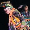 Robert Howell and Maddie Fernandez,  Seven Falls Indian Dancers, perform dances during  the Children's Library's Wonderful Wednesdays at the Audi the Mamie Doud Eisenhower Public Library.<br /> June 8, 2011<br /> staff photo/David R. Jennings