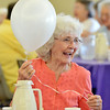 Rosell Wiens laughs while playing with a balloon at the 10th Anniversary celebration of the Silver Sneakers program at the Broomfield Community Center on Friday.<br /> <br /> July 20, 2012<br /> staff photo/ David R. Jennings