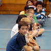 Sixth grade students sit in line before going to classrooms for more games for getting acquainted with classmates during Westlake Middle School's 6th grade orientation on Thursday.<br /> August 11, 2011<br /> staff photo/ David R. Jennings