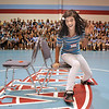 Jessica Sanchez runs back to her side of the gym after popping a balloon during Westlake Middle School's 6th grade orientation on Thursday.<br /> August 11, 2011<br /> staff photo/ David R. Jennings