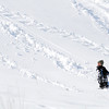 A sledder makes new trails on the hills  near Oak Circle and Miramonte Blvd. on Saturday.<br /> February 4, 2012<br /> staff photo/ David R. Jennings