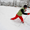 SNOW107<br /> Alison Leyman cross-country skis at North Boulder Park on Thursday.<br /> Photo by Marty Caivano/Camera/Oct. 29, 2009