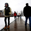 Students walk through Norlin Quad on the University of Colorado campus in Boulder, Thursday, Oct. 29th, 2009. Boulder saw 17 inches by Thursday morning, and expected up to 10 more inches by the end of the day.  <br /> KASIA BROUSSALIAN / THE CAMERA