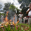 El Salvador Summer Sols(2).JPG Mayan descendants pray during a ceremony in honor of the upcoming summer solstice at the Mayan archeological site of Tazumal in Chalchuapa, El Salvador, Sunday June 19, 2011.  The summer solstice, which happens on Tuesday, marks the longest day of the year in the Northern Hemisphere, and according to Mayan Priest Jose Erenesto Campos, the Mayans hold ceremonies to help balance the energy of mother earth and ask for abundant crops. In El Salvador, the solstice in June is referred to as winter solstice because it happens during the rainy season, which is considered the country's winter season.  (AP Photo/Luis Romero)