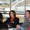 Speaker of the House Nancy Pelosi and Congressman Jared Polis with Westminster Mayor Nancy McNally, right,l isten to Kelly Shea, White Wave Foods, left,  during a round table discussion about the Hwy. U.S. 36 transportation corridor at the 1stBank Center on Monday.<br /> <br /> March 1, 2010<br /> Staff photo/David R. Jennings