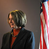 Speaker of the House Nancy Pelosi waits to answer questions after a round table discussion on the Hwy. U.S. 36 transportation corridor at the 1stBank Center on Monday.<br /> <br /> March 1, 2010<br /> Staff photo/David R. Jennings