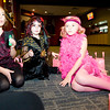 Sydney Jones, age 7, left, Emma Wilkerson, age 8, and Ava Merias, age 7, take a break to re-fuel with candy during the Spooktacular event at the Broomfield First Bank Center on Saturday.<br /> <br /> photo/ Matt Kelley