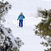 Charlene O'Leary cross country skis around Josh's Pond after the snow storm on Wednesday.<br /> <br /> March 24, 2010<br /> Staff photo/David R. Jennings