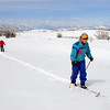 Charlene O'Leary and her husband Patrick cross country ski around Josh's Pond after the snow storm on Wednesday.<br /> <br /> March 24, 2010<br /> Staff photo/David R. Jennings