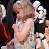 Ashley Acton, 5, tries to hold on to cards while collecting autographs from members of the Rebel Legion and 501st Legion Mountain Garrison during the Star Wars fundraiser for the Broomfield Public Library Foundation on Sunday at the Audi. <br /> <br /> August 7, 2011<br /> staff photo/ David R. Jennings