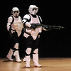 Members of the 501st Legion Mountain Garrison walk on to the stage at the Star Wars fundraiser for the Broomfield Public Library Foundation on Sunday at the Audi. <br /> <br /> August 7, 2011<br /> staff photo/ David R. Jennings