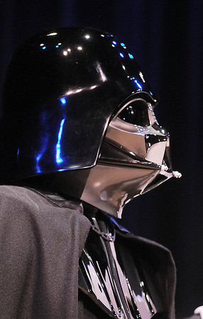 Darth Vader portrayed by a member of the 501st Legion Mountain Garrison at the Star Wars fundraiser for the Broomfield Public Library Foundation on Sunday at the Audi. <br /> <br /> August 7, 2011<br /> staff photo/ David R. Jennings