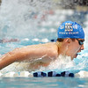Broomfield's Martin Wallace swimming in the 100 yard butterfly finals during the state 4A  Boys Swim and Dive Championships at Veterans Memoirial Pool in Thornton on Saturday.<br /> <br /> <br /> May 19, 2012 <br /> staff photo/ David R. Jennings