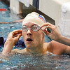 Longmont's Tony Huff looks at his time for the 200 yard freestyle finals during the state 4A  Boys Swim and Dive Championships at Veterans Memoirial Pool in Thornton on Saturday.<br /> <br /> May 19, 2012 <br /> staff photo/ David R. Jennings