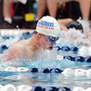 Longmont's Connor Dwyer swimming in the 100 yard breaststroke finals during the state 4A  Boys Swim and Dive Championships at Veterans Memoirial Pool in Thornton on Saturday.<br /> <br /> May 19, 2012 <br /> staff photo/ David R. Jennings