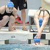 Broomfield's Katalena Laufasa-Duncan cheers on her teammates during the 200 yard medey relay at the 4A state swimming championships on Saturday at the Veterans Memorial Aquatics Center in Thornton.<br /> February 11, 2012<br /> staff photo/ David R. Jennings