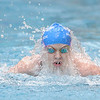 Broomfield's Heather Shaver swims the breaststroke in the 200 yard medey relay at the 4A state swimming championships on Saturday at the Veterans Memorial Aquatics Center in Thornton.<br /> February 11, 2012<br /> staff photo/ David R. Jennings