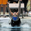 Broomfield's Katalena Laufasa-Duncan begins the 100 yard backstroke at the 4A state swimming championships on Saturday at the Veterans Memorial Aquatics Center in Thornton.<br /> February 11, 2012<br /> staff photo/ David R. Jennings