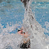 Broomfield's Katalena Laufasa-Duncan swims in the 100 yard backstroke at the 4A state swimming championships on Saturday at the Veterans Memorial Aquatics Center in Thornton.<br /> February 11, 2012<br /> staff photo/ David R. Jennings