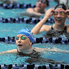 Broomfield's Heather Shaver loosk for her time in the 50 yard freestyle at the 4A state swimming championships on Saturday at the Veterans Memorial Aquatics Center in Thornton.<br /> February 11, 2012<br /> staff photo/ David R. Jennings