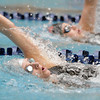 Silver Creek's Kylie Rembert swims the backstroke in the 200 yard IM at the 4A state swimming championships on Saturday at the Veterans Memorial Aquatics Center in Thornton.<br /> February 11, 2012<br /> staff photo/ David R. Jennings
