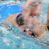 Broomfield's Abi Young swims in the 400 yard freestyle relay at the 4A state swimming championships on Saturday at the Veterans Memorial Aquatics Center in Thornton.<br /> February 11, 2012<br /> staff photo/ David R. Jennings