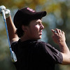 Silver Creek's Dylan Wonnacott tees off the 4th hole during the state 4A golf tournament at Pelican Lakes Golf course in Windsor on Tuesday.<br /> October 4, 2011<br /> staff photo/ David R. Jennings