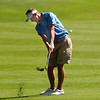 Broomfield's Nick Reisch chips the ball to the 4th green during the state 4A golf tournament at Pelican Lakes Golf course in Windsor on Tuesday.<br /> October 4, 2011<br /> staff photo/ David R. Jennings