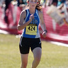 Broomfield's Jill Carlson runs to the finish line at the state cross country meet at Fossil Ridge High School in Ft. Collins on Saturday.<br /> <br /> November 7, 2009<br /> Staff photo/David R. Jennings