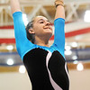 Broomfield's JoJo Hayden performs her floor routine during the state 5A gymnatics meet at Thornton High School on Friday.<br /> <br /> November 6, 2009<br /> Staff photo/David R. Jennings