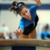 Breanne Clausen, Broomfield, performs on the vault during the state 5A gymnatics meet at Thornton High School on Friday.<br /> <br /> November 6, 2009<br /> Staff photo/David R. Jennings