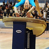 Broomfield's JoJo Hayden leaps on to the vault during the state 5A gymnatics meet at Thornton High School on Friday.<br /> <br /> November 6, 2009<br /> Staff photo/David R. Jennings