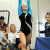 Allie Burgess, Broomfield,  performs her floor routine during the state 5A gymnatics meet at Thornton High School on Friday.<br /> <br /> November 6, 2009<br /> Staff photo/David R. Jennings