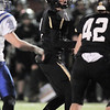 Jamie Falloon, Monarch, watches as his field goal is successful against Broomfield to win the game 23 -21 during the quarterfinals 4A game at Centaurus High on Friday.<br /> November 18, 2011<br /> staff photo/ David R. Jennings