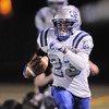 After catching a pass, Broomfield's Jose Faire carries the ball in for a touchdown against Monarch in the last part of the fourth quarter during the quarterfinals 4A game at Centaurus High on Friday.<br /> November 18, 2011<br /> staff photo/ David R. Jennings