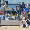 Frederick's catcher Liberty Nelson scrambles after a ball hit by Ponderosa during Friday's state softball championships at Aurora Sports Park.<br /> <br /> October 19, 2012<br /> staff photo/ David R. Jennings
